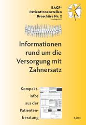 Broschüre – Informationen rund um die Versorgung mit Zahnersatz
